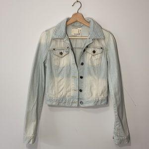 Cropped Light Wash Denim Jacket